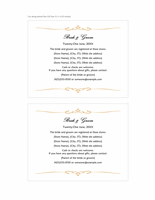 Wedding registry insert card (Heart Scroll design, A2 size, 2 per page)