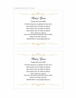 Wedding registry insert card (Heart Scroll design, A2 size, 2 per page)