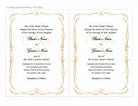 Wedding invitations (Heart Scroll design, A7 size, 2 per page)