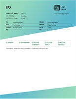 Fax cover sheet (Green Gradient design)