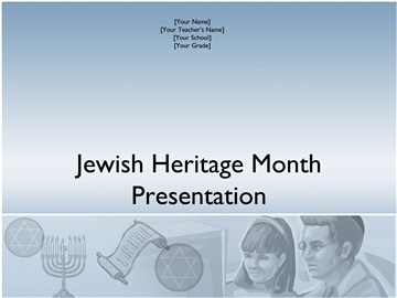 Jewish Heritage Month presentation