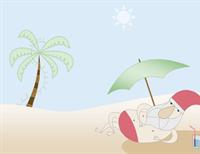 Thank you card (Summer Santa design)