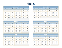 2010-2019 yearly calendar