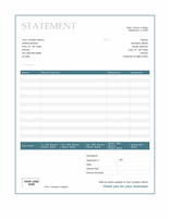 Billing statement (Blue Border design)