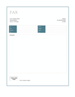 Fax cover (Blue Border design)