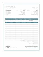 Sales invoice (Blue Border design)