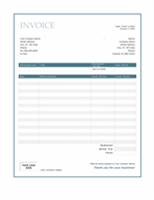 Service invoice (Blue Border design)