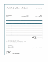 Purchase order (Blue Border design)
