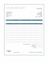 Sales receipt (Blue Border design)