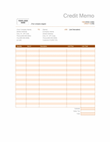 Credit memo (Rust design)