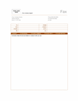 Fax cover sheet (Rust design)