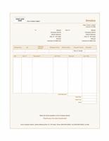 Sales invoice (Sienna design)