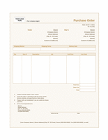 Purchase order (Sienna design)