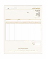 Sales receipt (Sienna design)