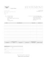 Billing statement (Garamond Gray design)