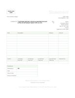 Billing statement (Green design)