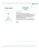 Creative cover letter, designed by MOO