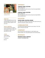 Resume (Professional)