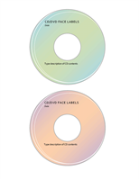 CD or DVD face labels (2 per page)