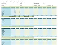 Employee timecard