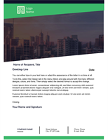 business letter green forest design