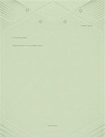 Template for personal letters (elegant gray-green design)