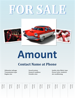 Sales flyer with tabs