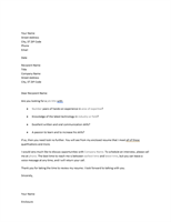 Resume cover letter for unsolicited resume