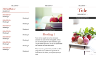 Brochure with headings