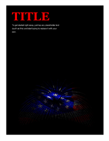 American flag flyer with fireworks