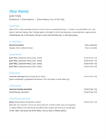 Resume (chronological)