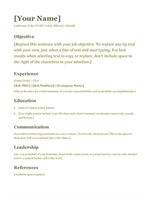word word online template resume green