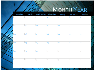 2017 calendar (Mon-Sun)