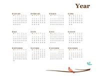 2017 yearly calendar (Sun-Sat)