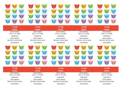 Personal business cards (Rainbow Bear design)