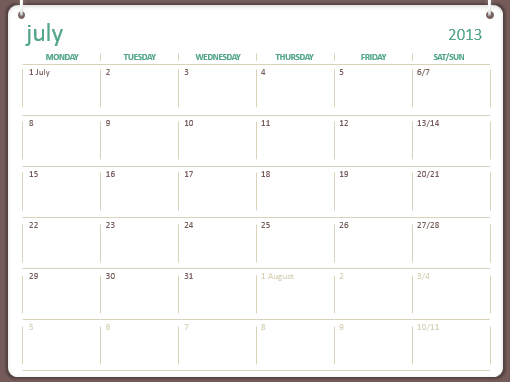 2013-2014 academic calendar (July-June)