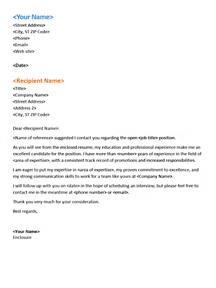 Functional Resume Cover Letter (Matches Functional Resume
