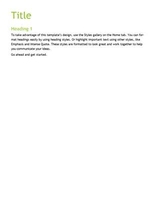 Facet design blank template