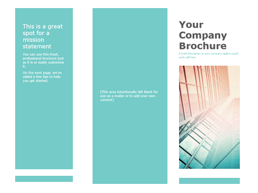 Brochure office templates for Product brochure template word