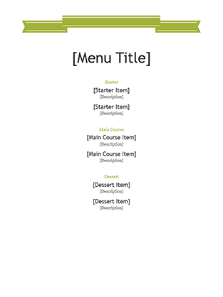 Wonderful Fieldstation.co  Microsoft Office Menu Templates