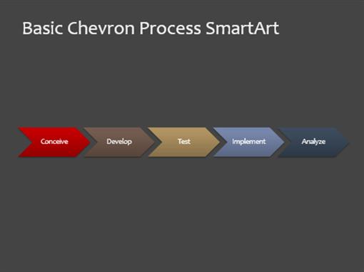 Process chart slide (chevron, widescreen)