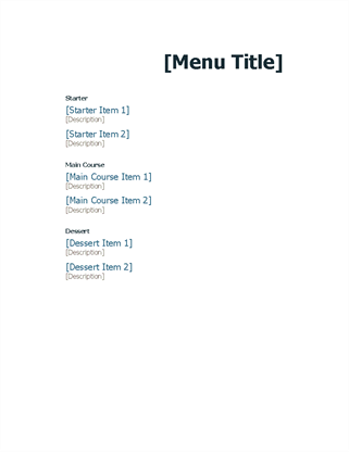 Restaurant Menu Office Templates - Invoice template word 2007 free download vapor store online