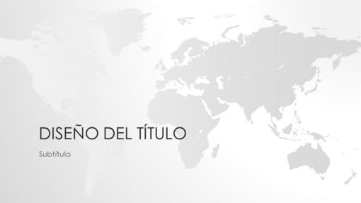 Serie de mapamundis, presentación del mundo (pantalla panorámica)