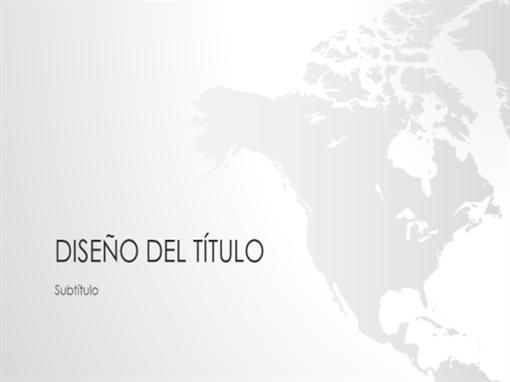 Serie de mapamundis, presentación de Norteamérica (panorámica)