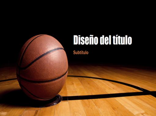 Presentación de baloncesto (pantalla panorámica)