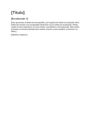Plantilla en blanco de diseño de informes
