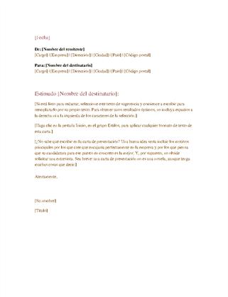 Carta de negocios formal