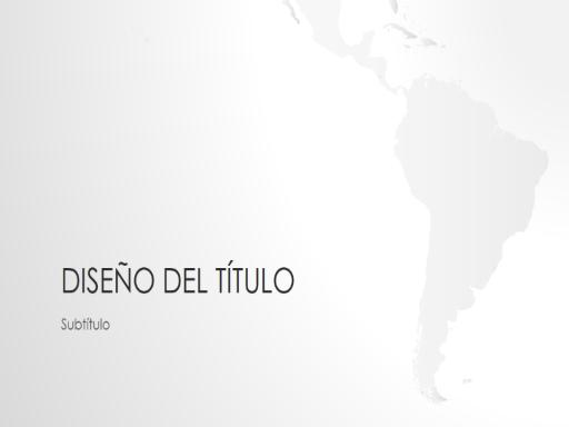 Serie de mapamundis, presentación de Sudamérica (panorámica)