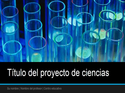 Presentación de proyecto de ciencias (panorámica)
