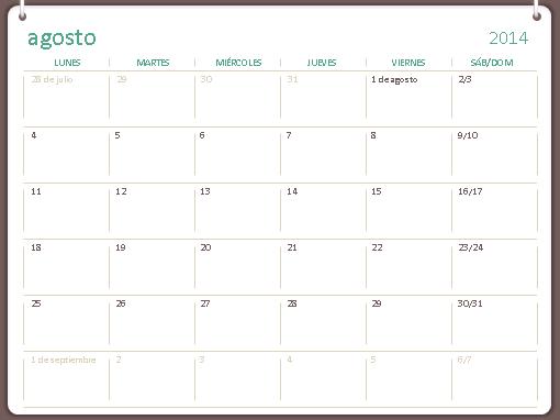 Calendario académico 2014-2015 (agosto-julio)